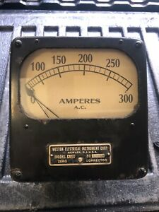 Vtg Weston Electrical Instrument Amperes Ac Antique Industrial Steampunk Nice