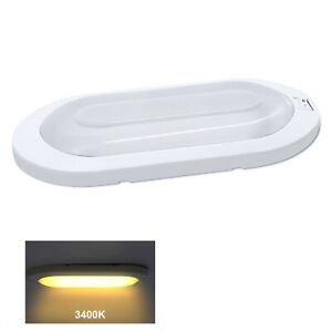 Facon 12v Led Rv Pancake Ceiling Dome Interior Lights W Switch For Camper Boat