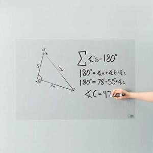 Clear Self adhesive Whiteboard Wall Sticker 24 X 36 Medium Peel Dry Erase For