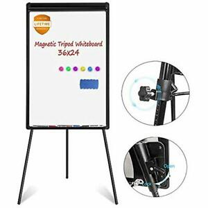 White Board Easel Magnetic Dry Erase 36 X 24 Inches Flipchart Whiteboard 1