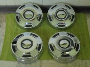 78 94 Ford Truck Set Of 4 Dog Dish 12 Hubcaps Pickup 3 4 1 Ton F250 F350
