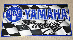 Yamaha Racing Banner 48 X 24 With Stickers Decals Yzf Yz Decal