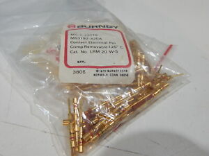Burndy Lrm20w 5 Gold Pin Ms3192 a20a Mil c 23216 Lot Of 5 Connector Pins