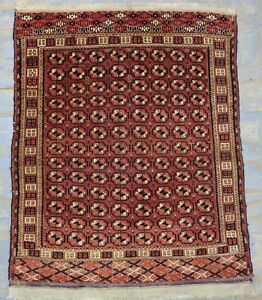 Ca 1920 Wonderfull Old Antique Turkoman Tekke Rug 4 4x3 5 Ft