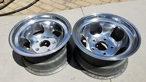15x8 5 Ansen Slot Style Wheels Rims Mags Slotted 5x5 5 Ford Dodge