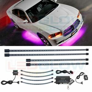 Ledglow 4pc Pink Led Neon Undercar Underbody Glow Kit Wheel Well Light Kit