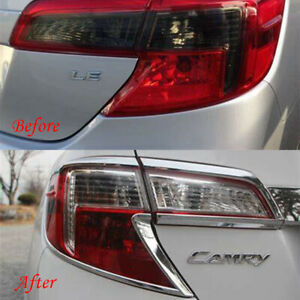 Chrome Taillight Covers Fit 2012 2013 2014 Toyota Camry