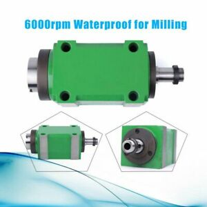 Cnc Drilling 5 Bearing Spindle Unit Power Head Belt Driver 6000rpm Waterproof