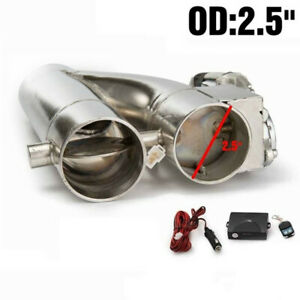 2 5 Electric Exhaust Downpipe Cutout E Cut Out Dual Valve Controller Remote Kit