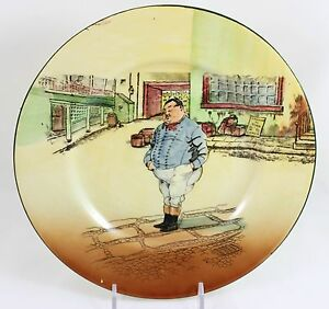 Antique Dickens Collector Cabinet Plate Royal Doulton China D5175 The Fat Boy