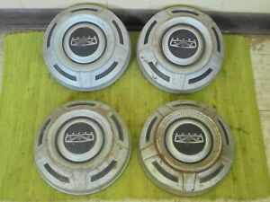 67 72 Ford Truck Set Of 4 Dog Dish 12 Hubcaps Pickup 3 4 1 Ton F250 F350 16