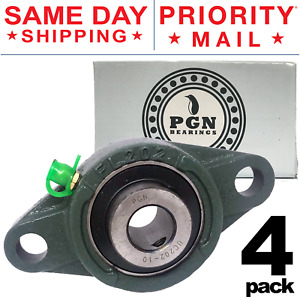 Ucfl202 10 Solid Pillow Block Flange Mounted Bearing 5 8 Bore 2 Bolt 4 Pcs