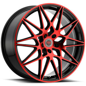 4 Revolution R11 20x8 5x114 3 5x4 5 40mm Black Machined Red Wheels Rims