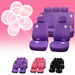 Seat Covers For Cars Floral Design Full Seat Covers Set 3 Colors