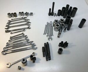 70pc Misc Tool Lot Mostly Wrenches Sockets Craftsman Easco Blackhawk Ect