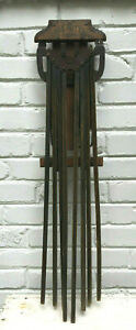 Antique Vtg Wood Beauty Clothes Drier Rack Wall Mount Display Rack 8 Arm Nice