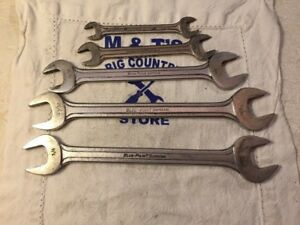 Blue Point Supreme Usa 5pc Sae Open End Wrench Set
