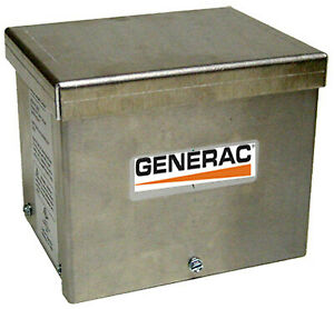 Generac Power Systems Inc Generator Power Inlet Box Aluminum 30a 6343