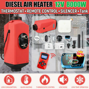 5kw 12v Air Diesel Heater Fuel Pump Lcd Thermostat Control For Truck Boat Car