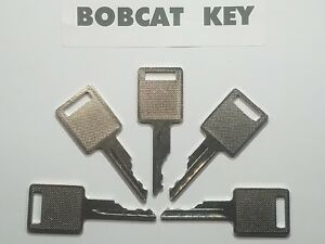 5 Bobcat Skidsteer Keys Fits Case Backhoe Heavy Equipment Ignition Key