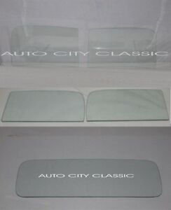 Clear Glass Set 1937 Ford Pickup Truck Windshield Door Back