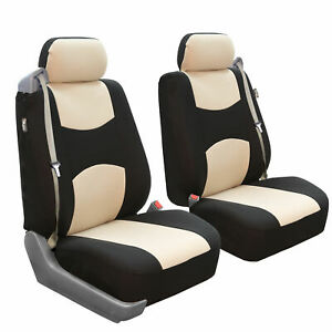Custom Fit Seat Cover For Ford F 150 2004 08 Front Pair Built In Seat Beige