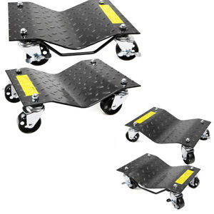 Set Of 4 Tire Dolly Car Dolly Wheel Tire 12 X 16 Skate 6000lbs Repair Slide