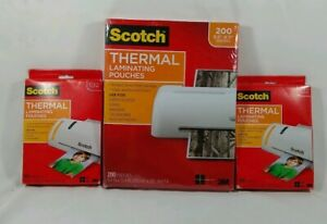 2 Scotch Thermal Laminating Pouches 5x7 100 pouches Each 8 9x11 4 200 Pouches