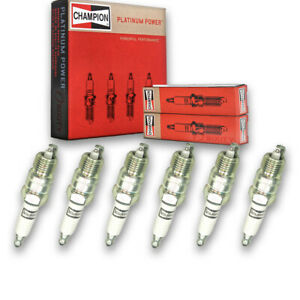 6 Pc Champion Platinum Spark Plugs For 1970 1974 Checker Taxicab Pre Lz