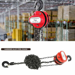 New 1 Ton Chain Puller Block Fall Chain Hoist Hand Tools Lifting Chain With Hook