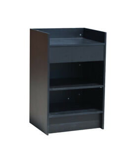 Black Cash Counter 24 Inch Cash Wrap Checkout Frame Shelf Retail Store Display
