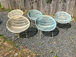 5 Mid Century Modern Fabiano Panzini Solair Scoop Patio Chairs