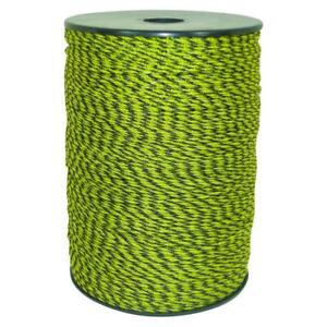 Electric Fence Polywire 1312 Ft Yellow Black Livestock Roll Uv Inhibitor