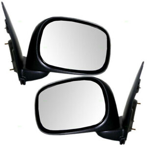 Pair Side View Mirrors For 2002 2009 Dodge Ram Pickup Truck Manual Textured Set
