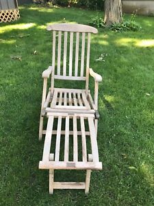 Antique Vintage Deck Chair Queen Mary First Class Historical
