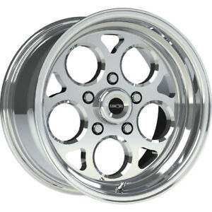 4 15x7 Polished Wheel Vision Sport Mag 5x4 5 0