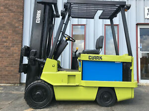 1989 Clark Ec50080 Electric Forklift Lifttruck 8000lb Capacity