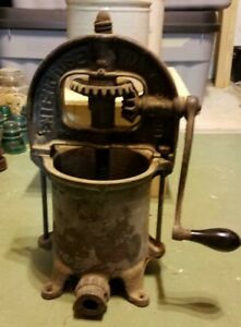 Vtg Antique 4 Qt Enterprise Sausage Stuffer Lard Fruit Wine Juice Cider Press
