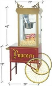 Gold Medal Gay 90 s Pinto Pop Popcorn Machine 2131 With Cart