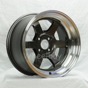 2 Pcs Only Rota Wheel Grid V 16x8 4x100 0 Ryl Gunmetal Mr2 Miata Civic