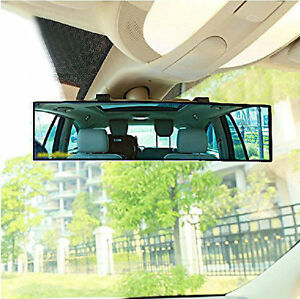 Auto Car 300mm Wide Convex Curve Interior Clip On Rear View Mirror Extender