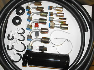 Universal Ac Hose Kit With Drier And Binary Switch For Aftermarket Systems