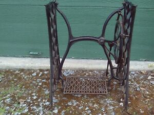 Antique 1880 S Singer Cast Iron Treadle Sewing Machine Stand