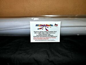 Glossy White Inkjet Printable Vinyl Roll 42in X 100ft