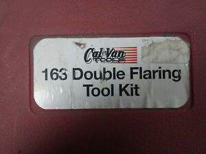 Cal Van No 163 Double Flaring Tool Kit With Directions In Original Case