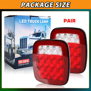 2pack Led Tail Lights Brake Reverse Turn Signal For Jeep Wrangler Tj Cj 76 06