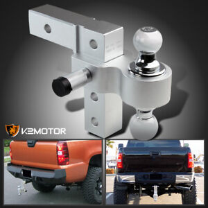 Fits 2 Hitch Trailer Receiver Truck Rv 6 Drop Adjustable Aluminum 2 ball Mount