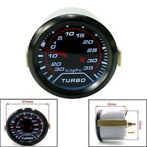 Universal Auto Turbo Boost Gauge Set 0 30in Hg 0 35psi Digital Pointer