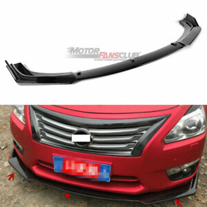 For Nissan Altima Sedan 2013 2014 2015 Glossy Black Front Bumper Lip Cover Trim