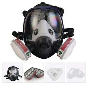 Full Face Dust Gas Mask Respirator Spray Chemical Paint Smoke Protection Durable